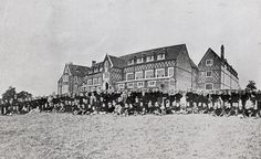 The 1st picture of the entire school, taken in Sept 1866 #TBT #ThrowbackThursday #cranleighschool #surrey #cranleigh