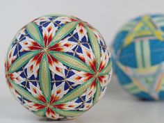 てまり【千鳥五弁と紡錘形】 #wa #和  #japaneseculture #decoration ball#てまり#手毬#手まり#日本#芸術#art#手作り#handmade #伝統#文化#手作り