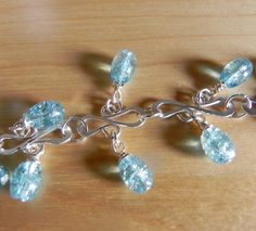Silver S Link Charm Bracelet with Crackle by CEMjewelrydesign, $20.00