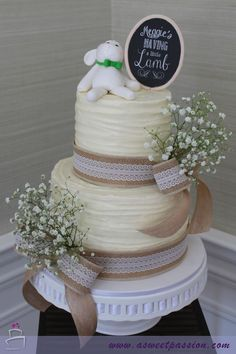 Lamb Baby Shower Cake – Sweet Passion Cakery