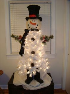 Image result for Snowman Christmas Tree Made From