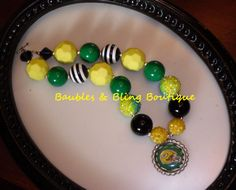 Girls Green Bay Packers Inspired Chunky by BaublesBlingBoutique, $18.00