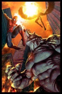Black Cat vs Mary Jane - Spider-Man - 11x17 art print by ...