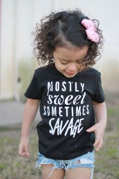 Sweet Sometimes Savage - Kids Tee The life of a toddler! Sweet & Savage tee from The life of a toddler! Sweet & Savage tee from Sweet Sixteen, Calvin Klein T Shirt, Savage Kids, Style Hipster, Hipster Boys, Vinyl Shirts, Shirts For Girls, Diy Kids Shirts, Mom And Me Shirts