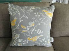 decorative pillow gray birds floral - Google Search