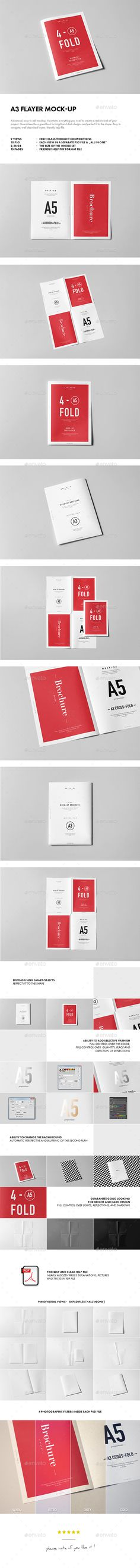 A3 Flayer Mock-up. Download here: http://graphicriver.net/item/a3-flayer-mockup/14849079?ref=ksioks