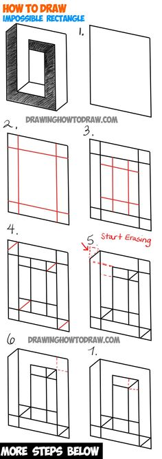 Learn ow to Draw an Impossible Square or Rectangle : Easy Step by Step… - #nails #long #longnails