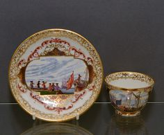 Meissen Tea Bowl and Saucer (circa 1724, Germany)