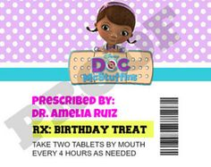 These Doc McStuffins ID Badges will be a hit at your childs next Birthday Party. The ID Badges are 3.75 x 2 8 per page Digital Download PDF File $10  Please include the following information when you place your order: 1. What the ID Badge should read (i.e. Name (Blank),Job Name, Staff Code, Date Issued, Childs Name) 2. Any special requests (Please Note: if you are adding the names of your attendants to the badge you are limited to a maximum of 20 names) 3. Doc McStuffins Badge, Stuffy Badge…