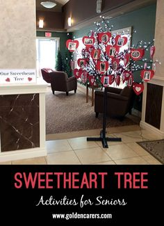 Sweetheart Tree Sweetheart Tree Erica Farrow activities We gathered pictures of residents with their sweetheart Some were recent pictures some were nbsp hellip crafts for elderly Senior Citizen Activities, Elderly Activities, Activities For Adults, Work Activities, Activity Ideas, Craft Ideas, Winter Activities, Physical Activities, Diy Ideas