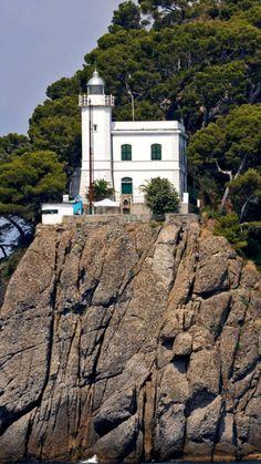 Lighthouse, Portofino, Liguria, Italy- by Elisewin de Carewall