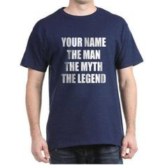 CafePress Personalized The Man The Myth The Legend T-Shirt, Men's, Size: XL, Blue