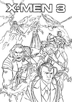 Wolverine coloring page  Super Hero party  Pinterest  Coloring