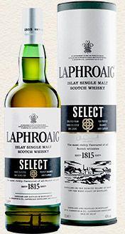 Laphroaig Single Malt Whisky - Select single malt available from Whisky Please.