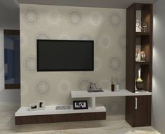 Foto 1 - Estante Home Para Tv Até 46 Polegadas 1 Porta De Correr Led Dalla Costa Off White/freijó Living Room Partition Design, Living Room Tv Unit Designs, Tv Unit Decor, Tv Wall Decor, Tv Cabinet Design, Tv Wall Design, Muebles Rack Tv, Home Para Tv, Tv Unit Furniture Design