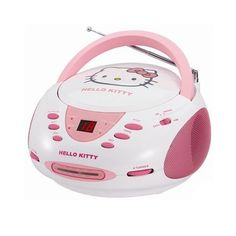 Hello Kitty Stereo CD Boombox with AM/FM Radio