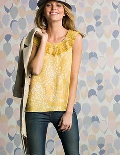 Boden I want this yellow shirt.
