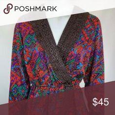 Spotted while shopping on Poshmark: Vtg 80s Diane Freis Georgette Blouse Faux Wrap! #poshmark #fashion #shopping #style #Diane Freis #Tops