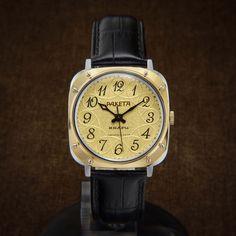 Raketa NOS Early Soviet Quartz Square Watch From 70s - square watch swiss watch omega mens watch tv dial tissot lanco poljot slava steampunk