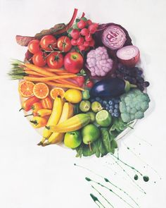 colourful fruit and veg!