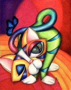 Art: Butba Kitty (SOLD) by Artist Alma Lee