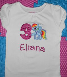 My Little Pony Birthday shirt Rainbow Dash by KaysweetLee