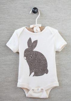 ++ brown bunny organic onesie