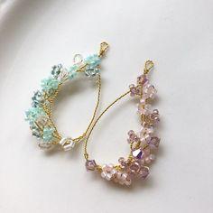 Diy Jewelry Rings, Handmade Wire Jewelry, Jewelry Logo, Ear Jewelry, Bead Jewellery, Wire Wrapped Jewelry, Jewelry Crafts, Earrings Handmade, Bridal Jewelry