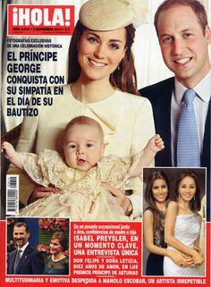 En ¡HOLA!: El príncipe George conquista con su simpatía el día de su bautizo