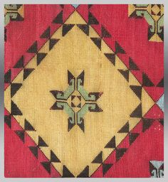 VINTAGE EMBROIDERY UZBEK Cross Stitch Textile by tcEclecticImages