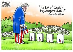 LET US BE GRATEFUL | May/21/15 Cartoon by Gary Varvel - Cartoonist Gary Varvel: A grateful nation on Memorial Day