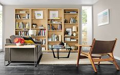 Woodwind Bookcases in Maple - Modern Living Room Furniture - Room & Board