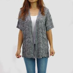 Lightweight Rayon Span Open Short Sleeve Cardigan Plus Size (S-5X ...