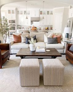 Home Interior Salas .Home Interior Salas Home Living Room, Living Room Designs, Living Spaces, Living Area, Barn Living, Living Room No Coffee Table, Living Room With Color, Apartment Living, Living Room And Kitchen Together