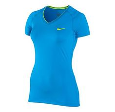 Womens Nike Pro V Neck II Short Sleeve Technical Tops