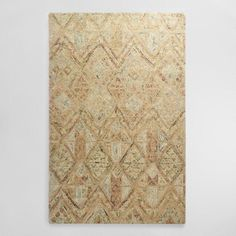 World Market - Light Brown Tufted Wool Maris Area Rug; could be nice in the family room, or our master bedroom? soft colors that play against the espresso floors without being too distracting. And, matches well with our Master BR furniture & new painting...?