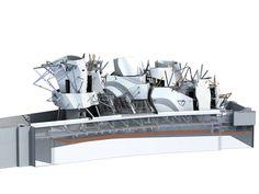 The model before the construction © Fondation Louis Vuitton