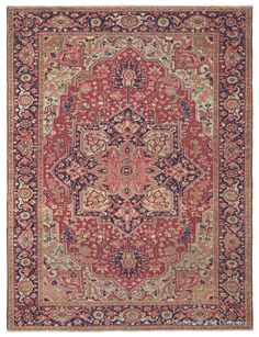 Collectible Persian Rug Heriz Room Size Persian Carpet