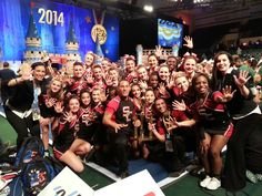 What an amazing way to end an already phenomenal 2013/2014 season (#1 @ every inter county competition, #1 FCC Nationals Small Coed, UCA Regionals 1st place (nationals qualifier), Defending Champions - 1st Place Western Conference Winner, Regionals 1st place winner, States 2nd place winner to being one of the top 5 Varsity Coed Teams in the Nation at the prestigious UCA Nationals High School Cheerleading Competition!   #chargernation #SCHS #uca nationals #cheerleading #nationals…