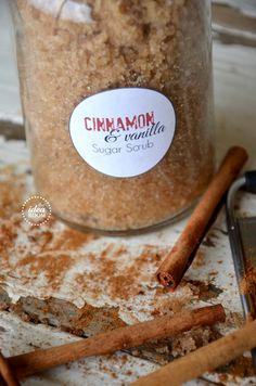 cinnamon-vanilla-sugar-scrub along with several other sugar scrub recipes. I want all of them for Christmas! Now, who wants to make them for me?