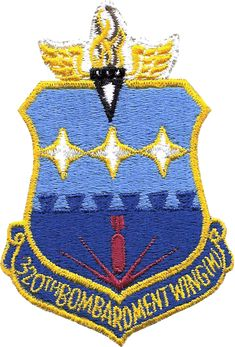 320th Bombardment Wing - SAC - Emblem - Mather Air Force Base - Wikipedia Air Force Bases, Us Air Force, Space Patch, Air Force Patches, Strategic Air Command, Korean War, Vietnam War, Military History, Badge