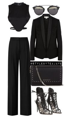 """""""Untitled #1686"""" by stylebyteajaye ❤ liked on Polyvore featuring Reiss, Morgan, STELLA McCARTNEY, Givenchy, Sophia Webster and Christian Dior"""