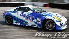Race car graphics wrap 350z drift car