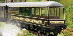 """The Hornby Pullman """"Devon Belle"""" Observation Car 'Circa 1947' in the model railway coach range accurately recreates the real life train coach. This coach comes in a Pullman maroon and umber livery from the 1940's.    The coach will have a pristine finish and is suitable to run on any 2nd radius curve or bigger. This is a must for all serious model railway enthusiasts."""