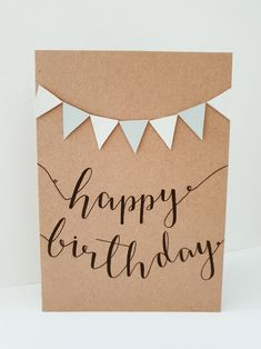 Happy Birthday Writing, Creative Birthday Cards, Simple Birthday Cards, Birthday Cards For Friends, Bday Cards, Handmade Birthday Cards, Happy Birthday Cards, Card Birthday, Sister Birthday