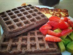 Waffle de chocolate