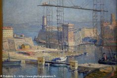 Rhone, Provence, French, Illustration, Painting, Image, Antique Post Cards, Antique Pictures, Marseille