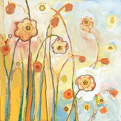 Orange Whimsy by Jennifer Lommers - her paintings are beautiful, often playful while still having substance.