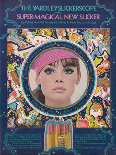Yardley Slickerscope Lipstick Ad, 1969