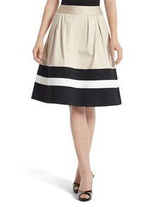 White House Black Market Color Block Skirt